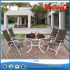 Garden Oval Table and Foldable PE Rattan Chair