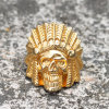 Stainless Steel Hip Hop Indian Skull Ring for Men Mjhp024