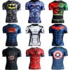 Men′s Compression Marvel Superhero Top 3D Print T-Shirts