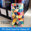 OEM Customized Blue Film Coated TPU Smart Cell Mobile Phone Case for Samsung Galaxy S5 I9600