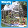 Low Price Tempered Glass Garden Greenhouse