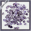 Hot Sale Purple and Heart Cutting Cubic Zirconia