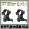 Vector Optics One Pair Tactical Quick Release Medium Picatinny Scope Mount Rings 30mm Fit on 21mm Picatinny Rail