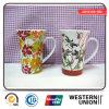 Tall Flower Printing Porcelain Mug