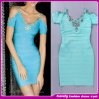 2014 Women's Sexy V-Neck Royal Blue Crystal Evening Dress. Bridesmaid Dress