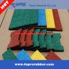 Anti-Slip Dog-Bone Rubber Tiles, Rubber Floor Mat for Playground