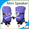 Newest Purple Despicable Me Minion Speaker with TF Card/USB/FM for MP3 Cellphone Computer Loudspeaker
