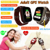 Adult Colorful Touch Screen GPS Tracker Watch with Heart Rate Monitor