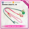 2013 New Design Plastic Zipper Lanyard with with Custom Logo Soft PVC Puller and Metal Pendant for Mobile Phone