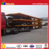Three Axles 40FT Flatbed Trailer Transport Container Port Machinery