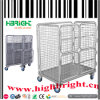 Folding Wire Grid Mesh Wheeled Cage