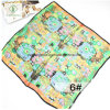 90*90cm 100% Silk Lady Fashion Square Scarf with Oil Painting Printed