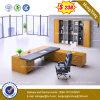 Straight Steel Metal Leg Tempered Glass Office Table /Desk (HX-8NE021C)