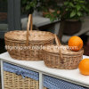 Customized Eco-Friendly Handmade Woven Natural Wicker Baskets with Handle