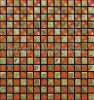 Orange Mirror Glass Mosaic Tiles Mixed Ceramic B7PC-2021