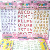 Wholesale Letters Crystal Acrylic Rhinestone Sticker (STI035)