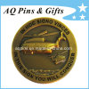 Military Coin with Enamel in Antique Gold, Navy Challenge Coin