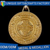 Arts and Craft Gold Round Medal Wit Ribbon Medallion Collection