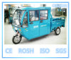 Solar 3 Wheel Electric Tricycle with Wagon Box, 2 Doors in One Side