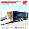 2 Axles Cargo Full Trailer with Inside Wood Layer