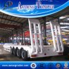 4 Axle Low Flatbed Semi Trailer, 40 FT Container Transport Lowbed Trailer for Sale