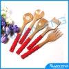 Bamboo Kitchen Utensil Set with 2 Spoons and 3 Spatulas