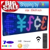 P10 Outdoor 39′′x14′′ Full Color LED Display Remote Control Programmable LED Sign Scrolling Outdoor Message LED Display Open 7 Color Message Board