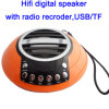 LED USB Mobile Portable Sound Music Speaker with FM Radio Recording