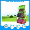 Transparent PVC and Non-Woven Green Hanging Pocket Organizer Storage Bag