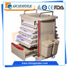 Plastic Medicine Trolley with Four Aluminum Columns (GT-Q201)