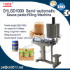 Semi-Automatic Single Head Piston Sauce Paste Filling Machine with Mixing