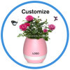 LED Night Light Bluetooth Speaker Smart Touch Music Plant Pot