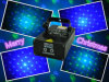 GB Twinkling 8 Gobo Party Laser Light Christmas Lights