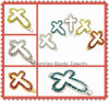 Fashion Jewelry Crystal Pave Sideway Cross Beads (3223)
