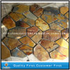 Yellow Rusty Slate Flagstone for Roofing, Mushroom Tile