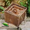 Squared Shaped Wood Flower Planter for Garden