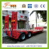 12m 2axle Lowbed Semi Trailer with Hydraulic Ramp