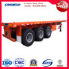40 Feet Transport Logistics Container Flatbed Trailer with 3 Axles