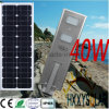 Outdoor Smart Integrated LED Solar Street Light 40W