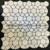 Circle Flower Marble and Shell Mosaic