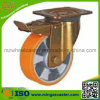 Industrial Swivel Caster with Polyurethane Wheel Double Brake