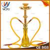 Yellow Shisha Silver Classic Glass Water Pipe Glass Mini Electronic Cigarett Shisha Hookah