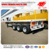 China Tri-Axle 60t Flatbed Semi Trailer with Container Locks
