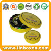 Round Tin Box for Promotional Packaging, Gift Tin Can