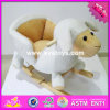 2017 Wholesale Baby Wooden Rocking Horse Kit, New Design Sheep Animal Kids Wooden Rocking Horse Kit with Music W16D098