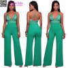 Maybel Green Bell Bottom Legs Black Jumpsuit L55326-1