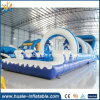 Giant Inflatable Water Slide, Wavy Inflatable Water Slide with Pool for Sale