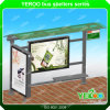 Street Furniture No Folded and Stainless Steel Metal Type Stainless Steel Bus Stop