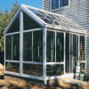 Slant Design Roof Aluminum Frame Double Glass Sun Room (TS-368)