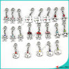 Silver Boys and Girls Charms for DIY Jewelry (SPE)